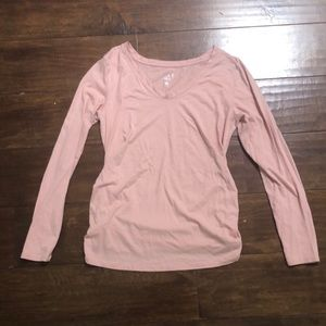 MATERNITY light pink long sleeve top